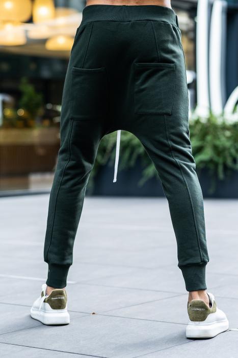 Set Kali Pro-Fit hanorac si pantalon cu tur lasat Dark Green [13]