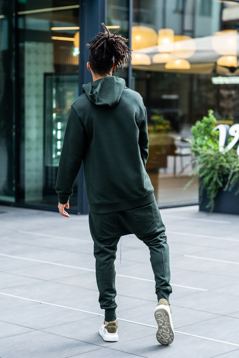 Set Kali Pro-Fit hanorac si pantalon cu tur lasat Dark Green [3]