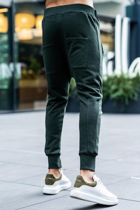 Set Kali Pro-Fit hanorac si pantalon cu tur lasat Dark Green [12]