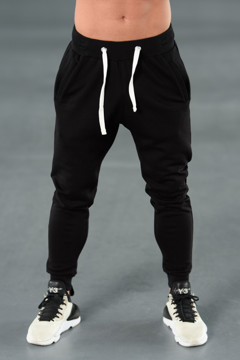 Set Kali-Fit hanorac si pantalon conic cu tur lasat Black [7]