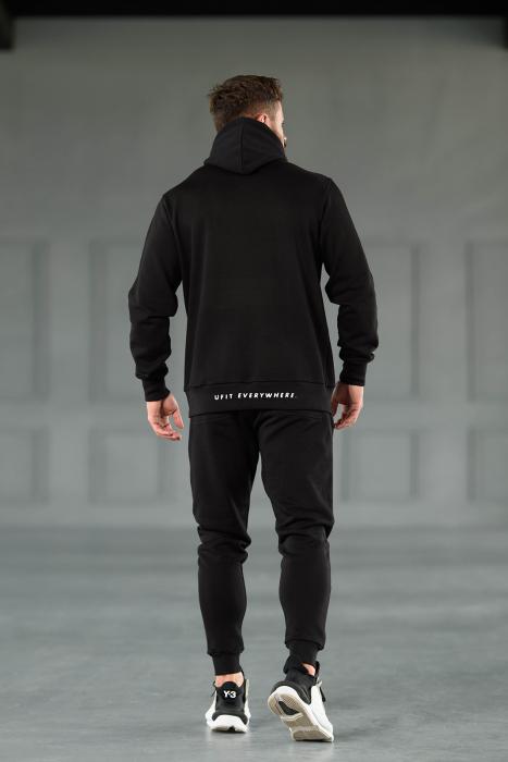 Set Kali-Fit hanorac si pantalon conic cu tur lasat Black [5]