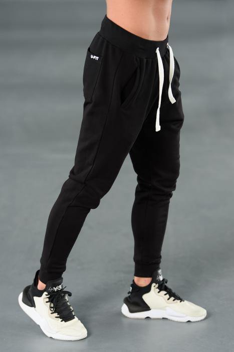 Set Kali-Fit hanorac si pantalon conic cu tur lasat Black [8]