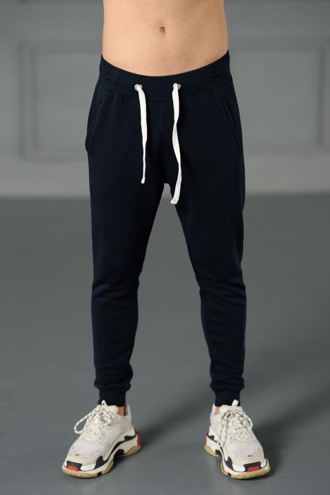 Set Kali-Fit hanorac si pantalon conic cu tur lasat Navy [8]