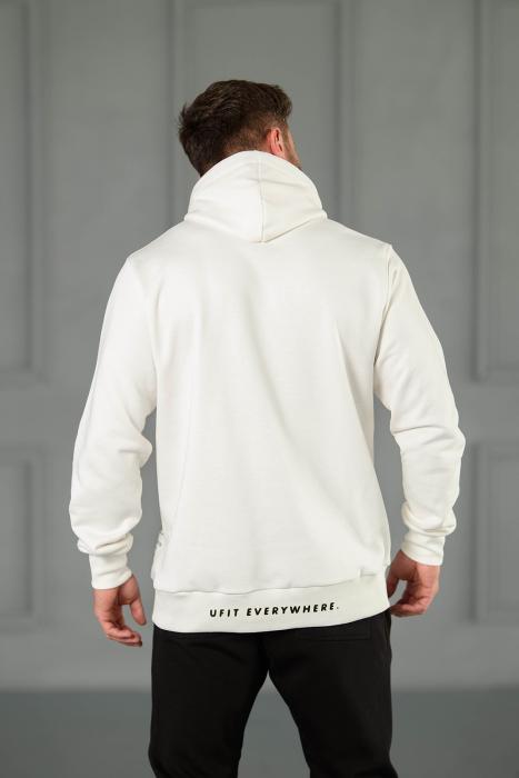 Set Kali-Fit hanorac si pantalon conic cu tur lasat Off White/Black [7]