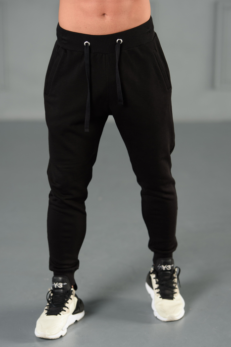 Set Kali-Fit hanorac si pantalon conic cu tur lasat Off White/Black [8]