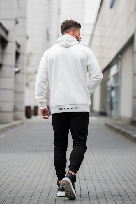 Set Kali-Fit hanorac si pantalon conic cu tur lasat Off White/Black [1]