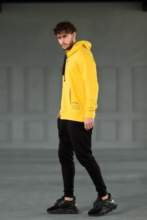 Set Kali-Fit hanorac si pantalon conic cu tur lasat Yellow/Black [3]