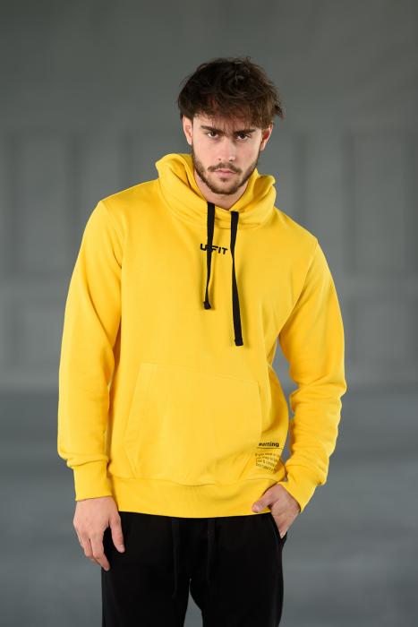 Set Kali-Fit hanorac si pantalon conic cu tur lasat Yellow/Black [4]