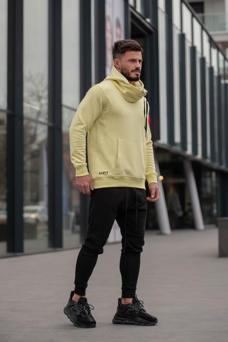 Set Kali-Fit hanorac si pantalon conic Yellow/Black [3]