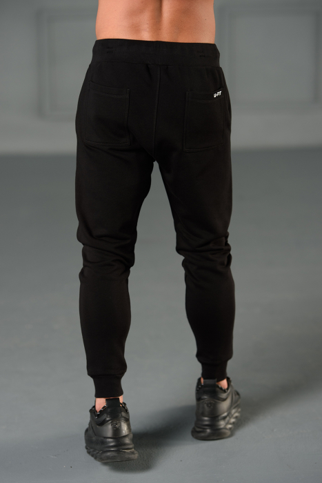 Set Kali-Fit II hanorac imprimat si pantalon conic cu tur lasat Black [7]