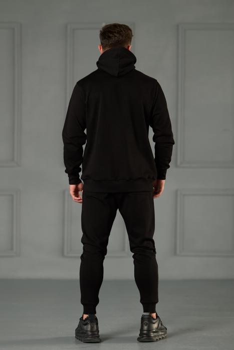 Set Kali-Fit II hanorac imprimat si pantalon conic cu tur lasat Black [5]