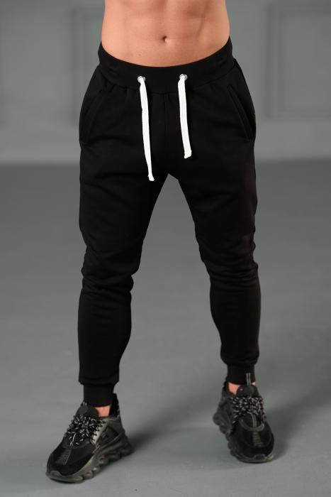 Set Kali-Fit II hanorac imprimat si pantalon conic cu tur lasat Black [6]