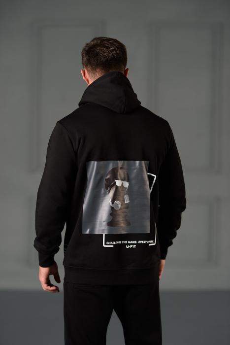 Set Kali Pro-Fit hanorac si pantalon cu tur lasat Black [3]