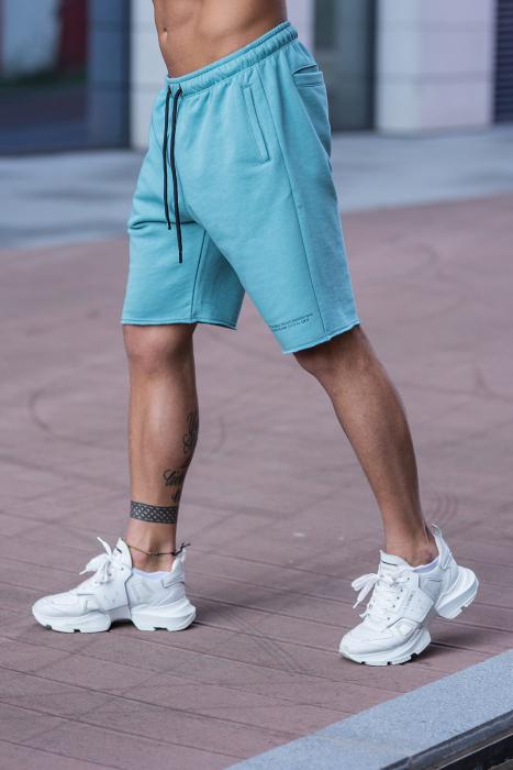 Set Malibu hanorac si pantalon scurt Dusty Turquoise [11]