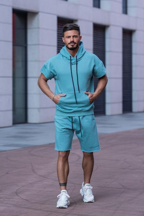 Set Malibu hanorac si pantalon scurt Dusty Turquoise [1]