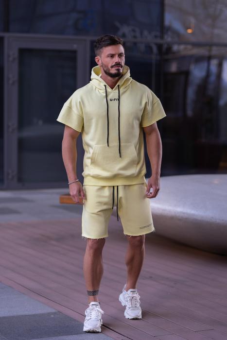 Set Malibu hanorac si pantalon scurt Yellow [0]