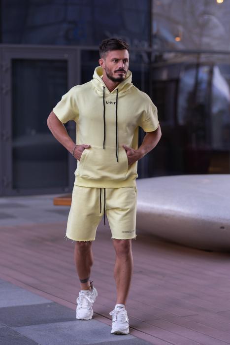 Set Malibu hanorac si pantalon scurt Yellow [2]