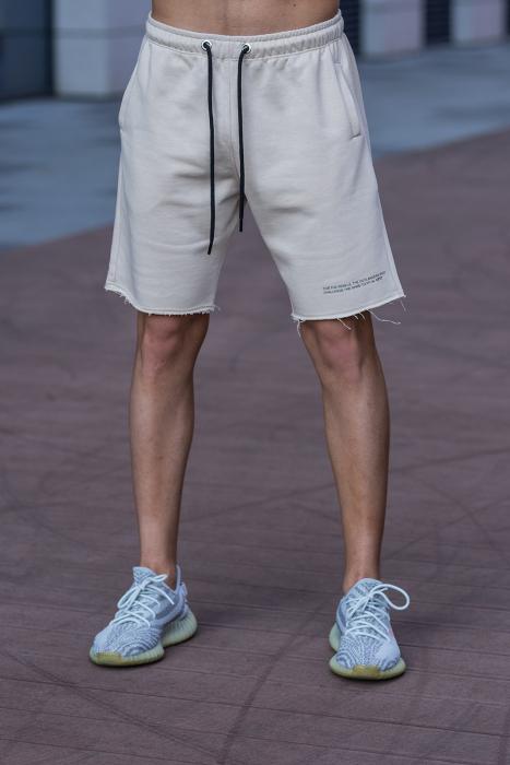 Set Malibu hanorac si pantalon scurt Light Beige [8]