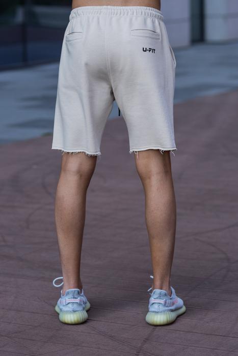 Set Malibu hanorac si pantalon scurt Light Beige [10]