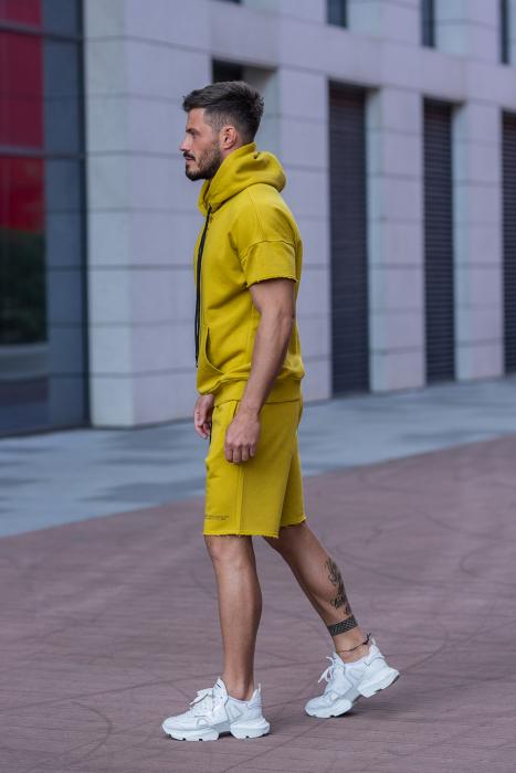 Set Malibu hanorac si pantalon scurt Mustard [3]