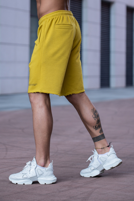 Set Malibu hanorac si pantalon scurt Mustard [9]