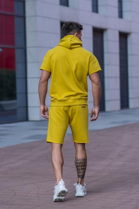 Set Malibu hanorac si pantalon scurt Mustard [5]