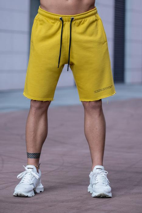 Set Malibu hanorac si pantalon scurt Mustard [8]