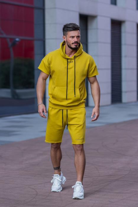 Set Malibu hanorac si pantalon scurt Mustard [2]