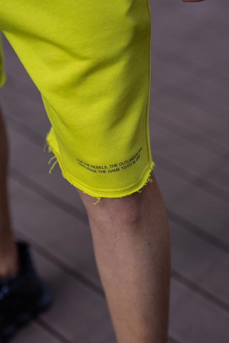 Set Malibu hanorac si pantalon scurt lime green [8]