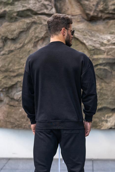 Set Easy-Fit bluza imprimata si pantalon conic Black [6]