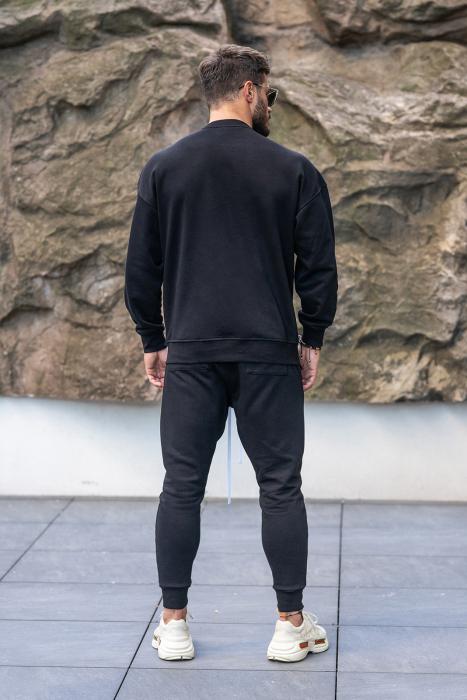 Set Easy-Fit bluza imprimata si pantalon conic Black [2]