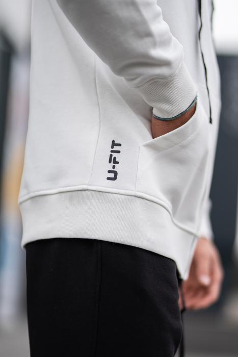 Set Rock-Fit hanorac si pantalon lejer White/Black [8]