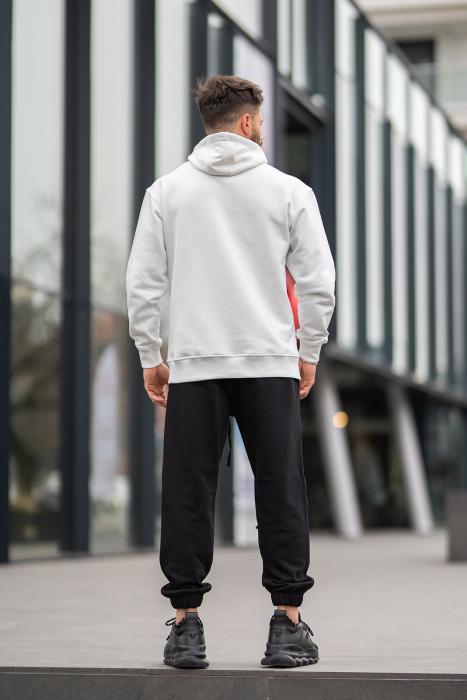 Set Rock-Fit hanorac si pantalon lejer White/Black [6]