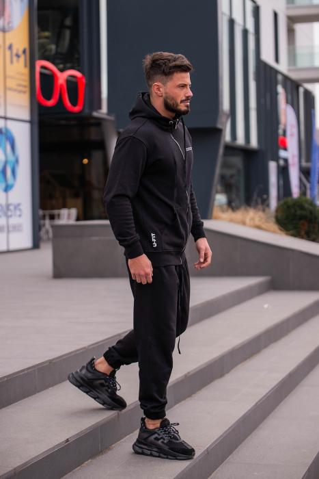 Set Rock-Fit hanorac si pantalon Black [9]