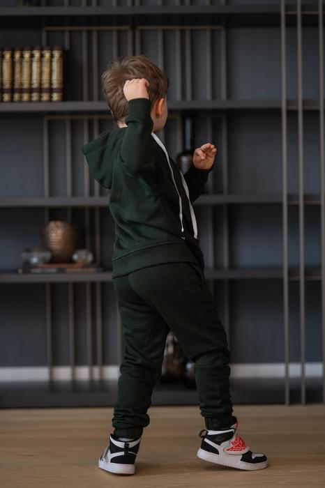 Set Rock-Fit Kids hanorac si pantalon dark green [8]