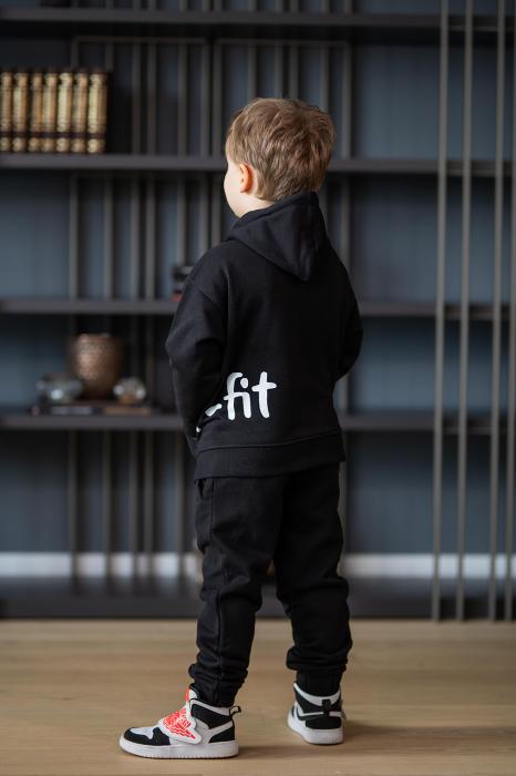 Set Rock-Fit Kids hanorac si pantalon black [3]