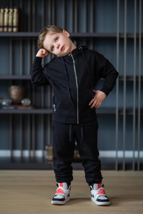 Set Rock-Fit Kids hanorac si pantalon black [5]