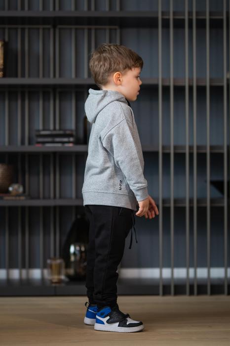 Set Rock-Fit Kids hanorac si pantalon grey/black [2]