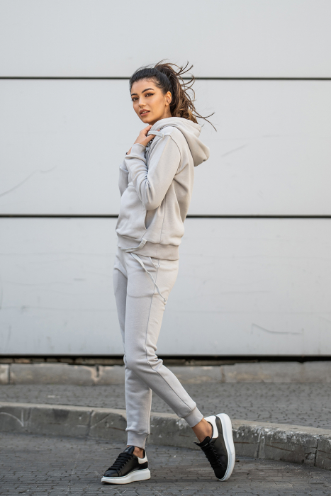 Set Row hanorac si pantalon Grey [4]
