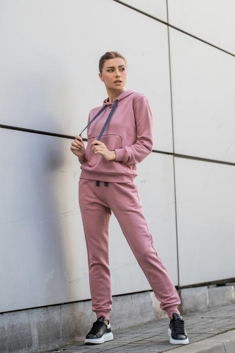 Set Row hanorac si pantalon Rose Quartz [2]