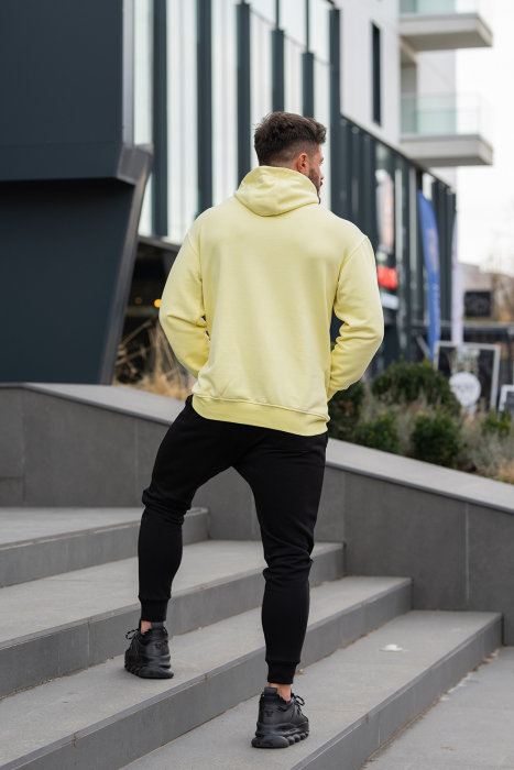 Set Star-Fit hanorac si pantalon conic galben/negru [3]