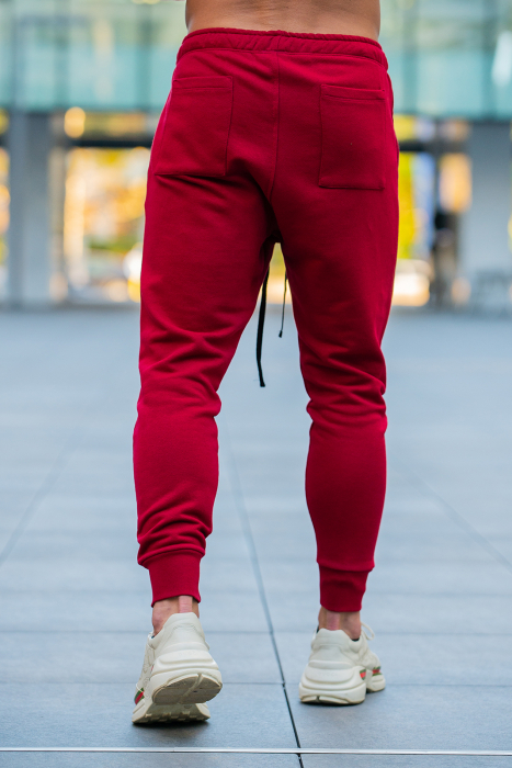 Set Kali-Fit hanorac si pantalon conic bordeaux [7]