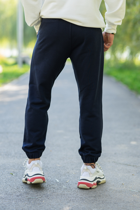 Set Easy-Fit hanorac si pantalon Oversized White/Navy [6]
