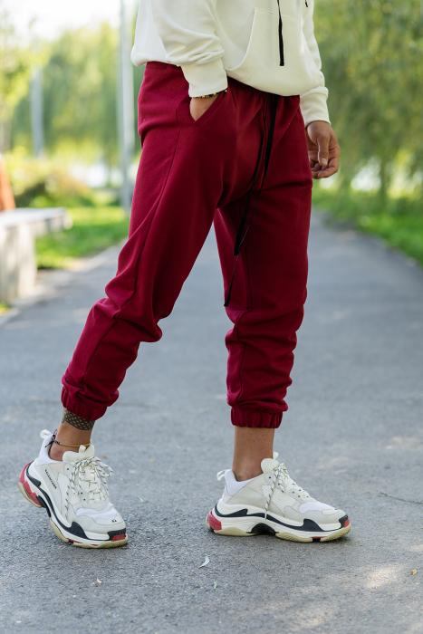 Set Easy-Fit hanorac oversized si pantalon White/Bordeaux [7]