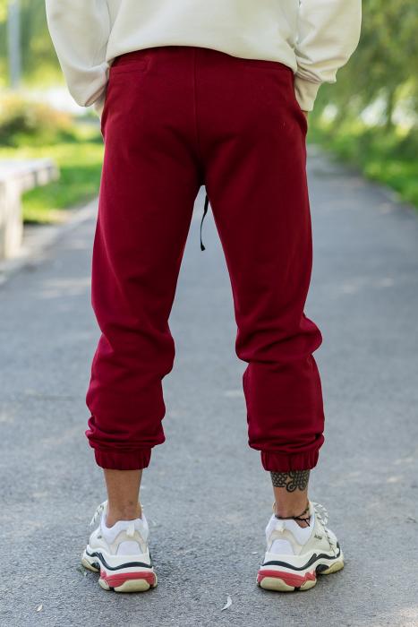 Set Easy-Fit hanorac oversized si pantalon White/Bordeaux [8]