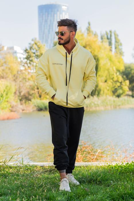 Set Easy-Fit hanorac si pantalon Oversized galben/negru [0]