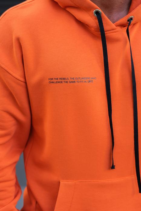 Set Easy-Fit hanorac si pantalon Oversized Orange/Navy [4]