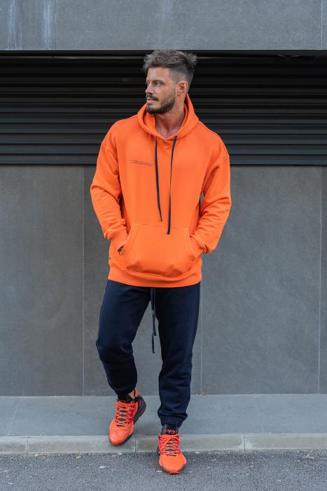Set Easy-Fit hanorac si pantalon Oversized Orange/Navy [0]