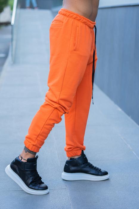 Set Easy-Fit hanorac si pantalon Oversized bleumarin/portocaliu [7]