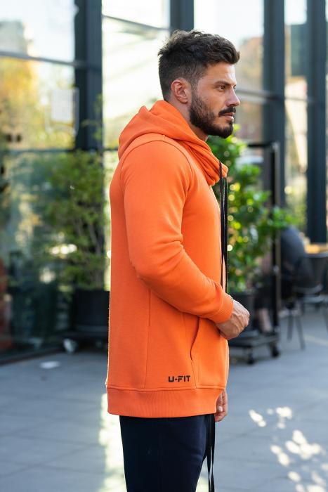 Set Kali-Fit hanorac si pantalon portocaliu/negru [2]